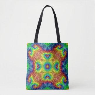 Tie Dye Sky Vintage Kaleidoscope  Tote Bag