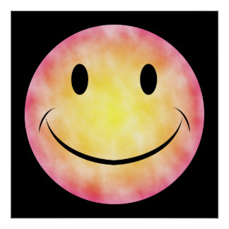 Tie Dye Smiley Face Poster
