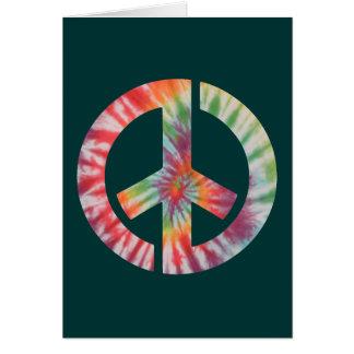 Tie-Dye Stencil Peace Greeting Card
