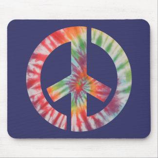 Tie-Dye Stencil Peace Mouse Pad