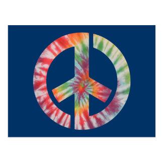 Tie-Dye Stencil Peace Postcard