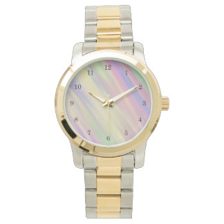 Tie Dye Style Multi Color Blended Background Faced Watch
