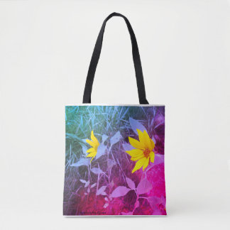 Tie Dye Sunflower Tote Bag