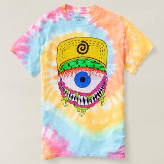 Tie dye t-shirt with eyeball design
