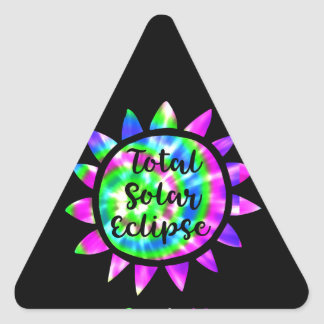 Tie Dye Total Solar Eclipse Sticker