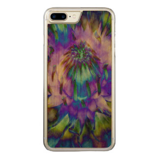 Tie Dye Water Lily Design Carved iPhone 8 Plus/7 Plus Case