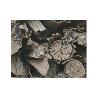 tie dyed firewood wood poster