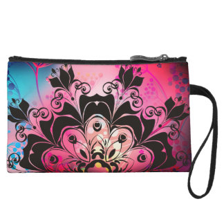 tie dyed floral pop mini clutch