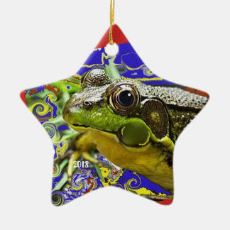 Tie Dyed Hippy Frog ornament