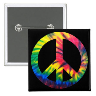 Tie Dyed Peace 15 Cm Square Badge