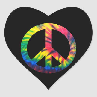 Tie Dyed Peace Heart Sticker