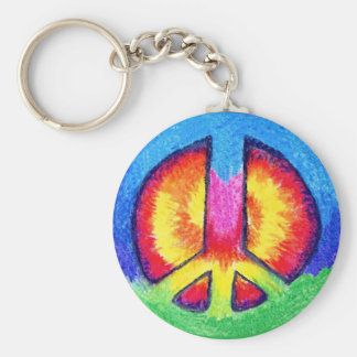 Tie~Dyed Peace Key Ring