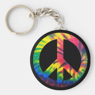 Tie Dyed Peace Keychain