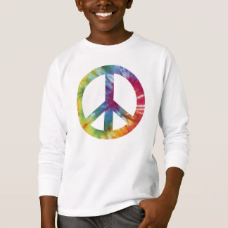Tie Dyed Peace Sign Kid's Long Sleeved Tee Shirt