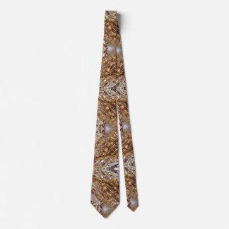 Tie- Earth Tones Bead Print Tie