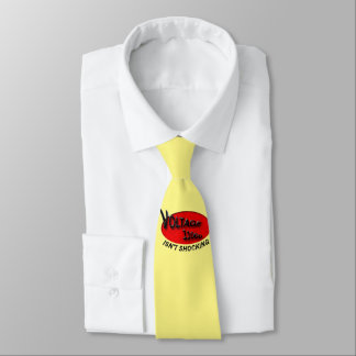 tie has cool red logo design