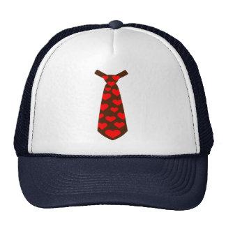 Tie hearts suit tuxedo trucker hat