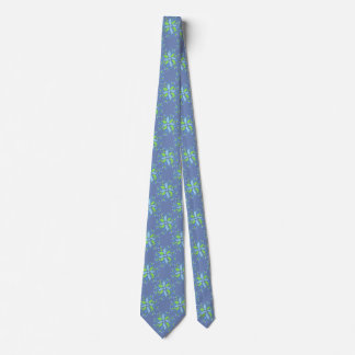 Tie In Blues And Green Modern Print