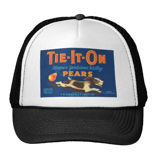 Tie-It-On Pears Vintage Advertisement Trucker Hats