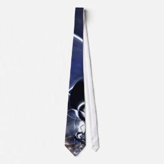 Tie Men's Metal Reflect Blue