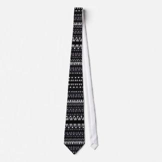 Tie Mens Mexican Print Black