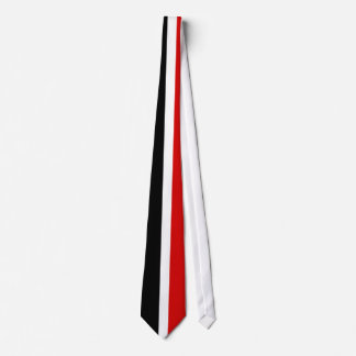 Tie Men's Red Black White Stripe