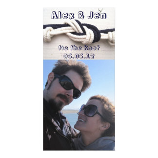Tie the Knot Save the Date Customized Photo Card