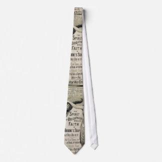 tie, vintage, newspaper tie