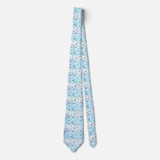Tie with water drop light blue design