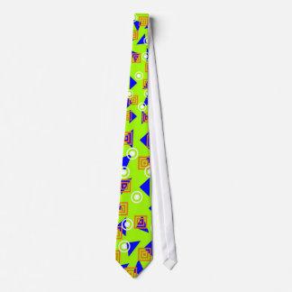 Tie Zizzago Bright Retro Lime Green Disc Neckwear