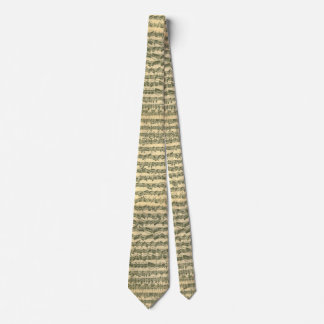 Tied Chaconne Bach Music Manuscript Tie