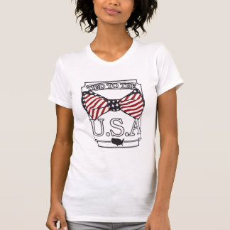 Tied to the USA Fourth of July T-shirt