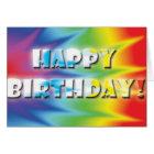 Tiedye birthday card