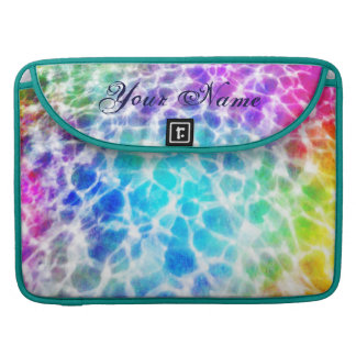 Tiedye Hippie Wavy Rainbow Effect Personalized Sleeve For MacBook Pro
