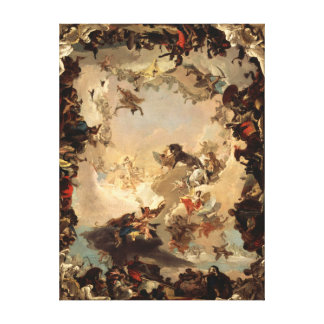Tiepolo Allegory of the Planets and Continents Canvas Print