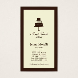 Tiered Cake Business Card - Chocolate