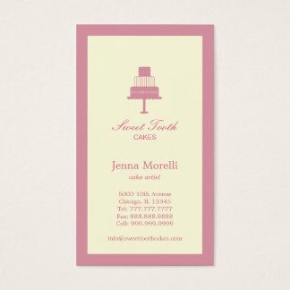 Tiered Cake Business Card - Pink