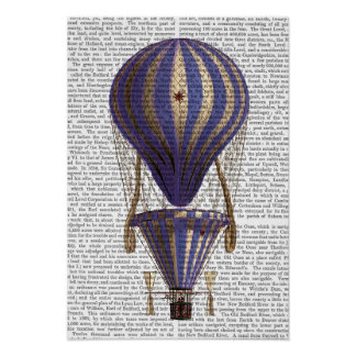 Tiered Hot Air Balloon Blue Poster