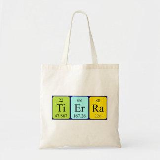 Tierra periodic table name tote bag