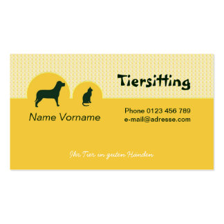 Tiersitting Pack Of Standard Business Cards