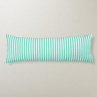 Tiffany Aqua Blue Sailor Stripes Body Cushion