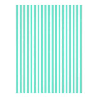 Tiffany Aqua Blue Sailor Stripes 21.5 Cm X 28 Cm Flyer