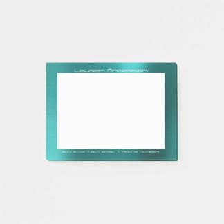 Tiffany Aquatic Office Custom Personalized Post-it Notes