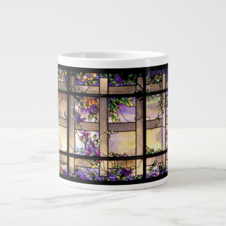 Tiffany Art Nouveau Stained Glass Jumbo Mug