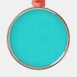Tiffany Blue and Cream Interlocking Circles Silver-Colored Round Decoration