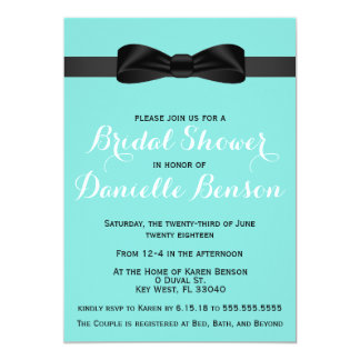 Tiffany Blue Bridal Shower Invitation