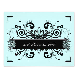 Tiffany Blue Floral Invite