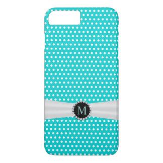 Tiffany Blue & Ivory Ribbon Polka Dots iPhone 7 Plus Case