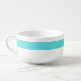 Tiffany Blue Personalized Striped Soup Bowl