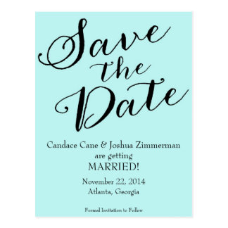 Tiffany Blue Save the Date Postcard